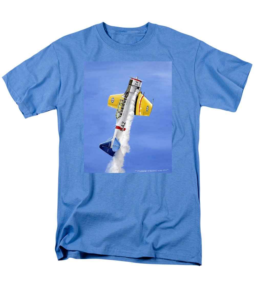 Military Men's T-Shirt (Regular Fit) featuring the painting Air Show by Marc Stewart