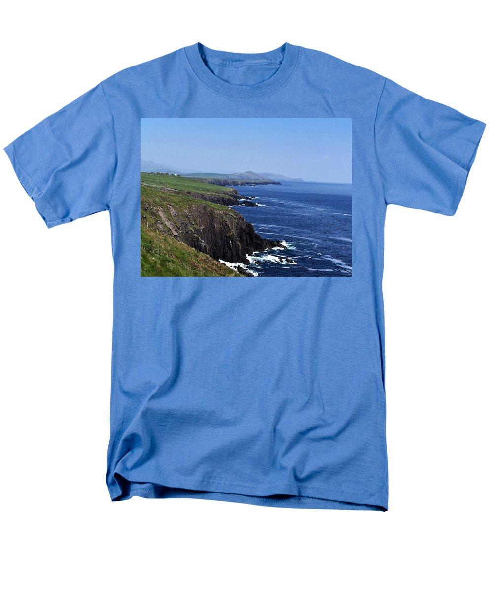 Irish Men's T-Shirt (Regular Fit) featuring the photograph Dingle Coast Near Fahan Ireland by Teresa Mucha