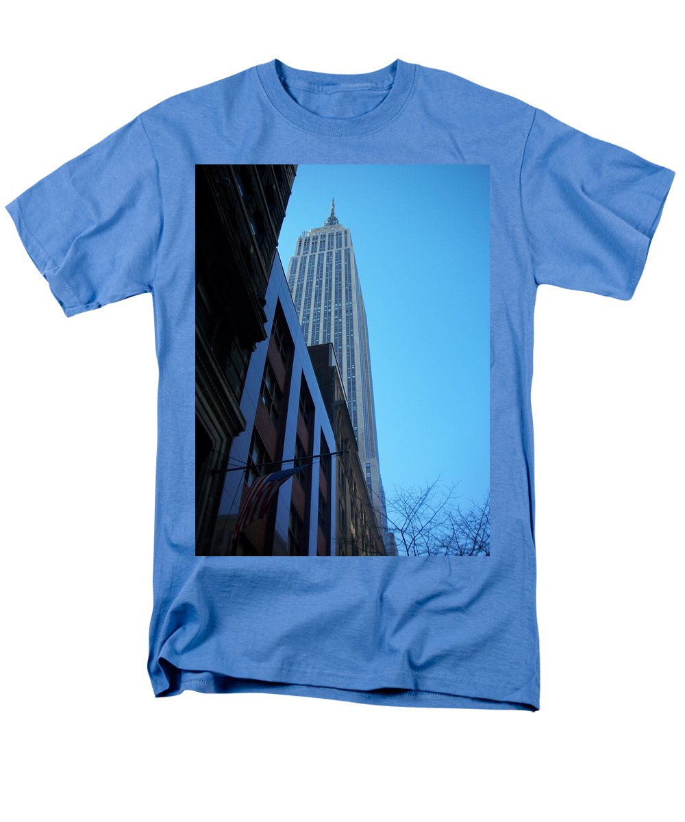 Emoire State Building Men's T-Shirt (Regular Fit) featuring the photograph Empire State 1 by Anita Burgermeister