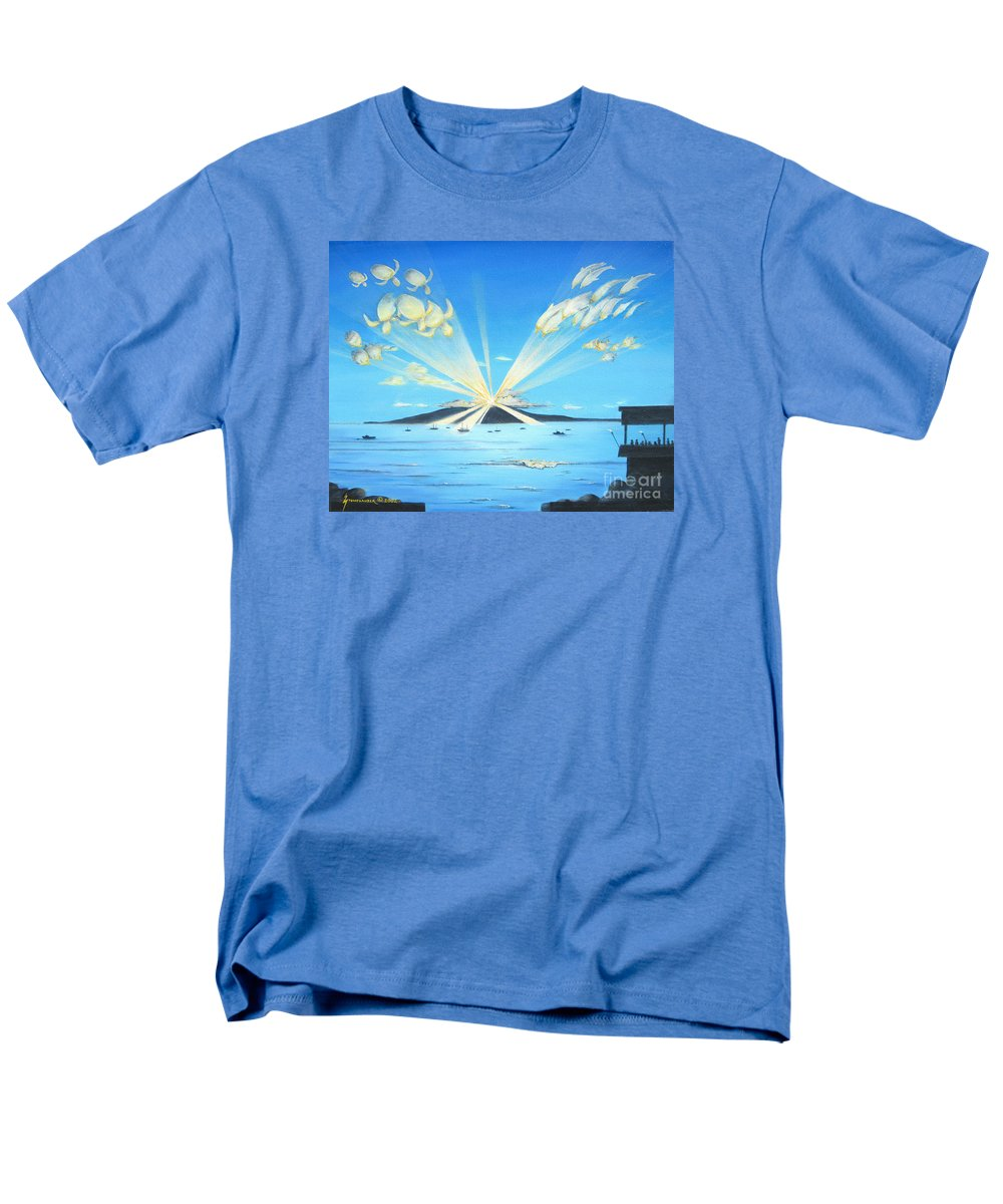 Maui Men's T-Shirt (Regular Fit) featuring the painting Maui Magic by Jerome Stumphauzer