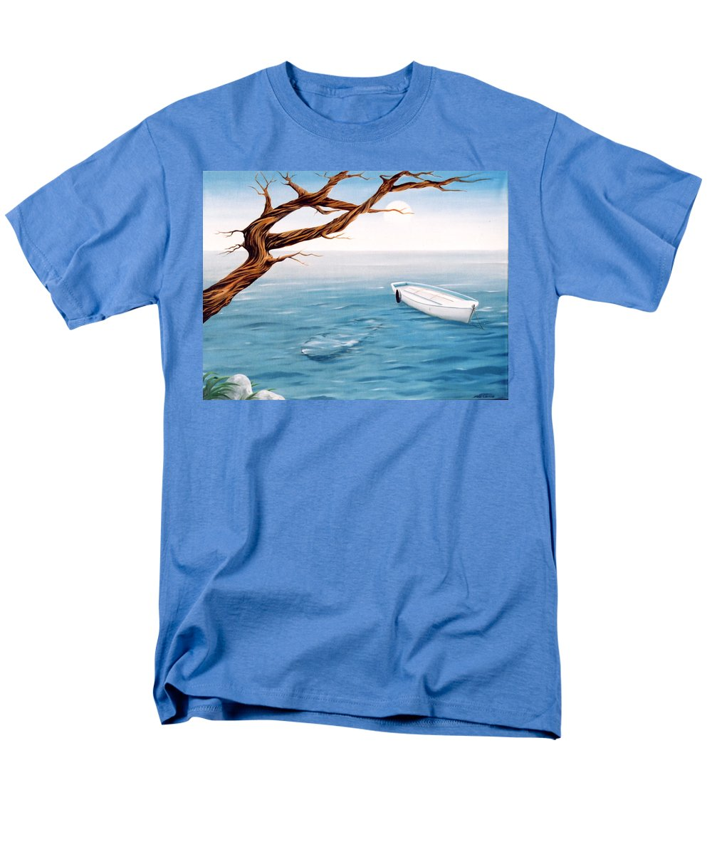 Seascape Prints Men's T-Shirt (Regular Fit) featuring the painting Mourning Spring by Mark Cawood