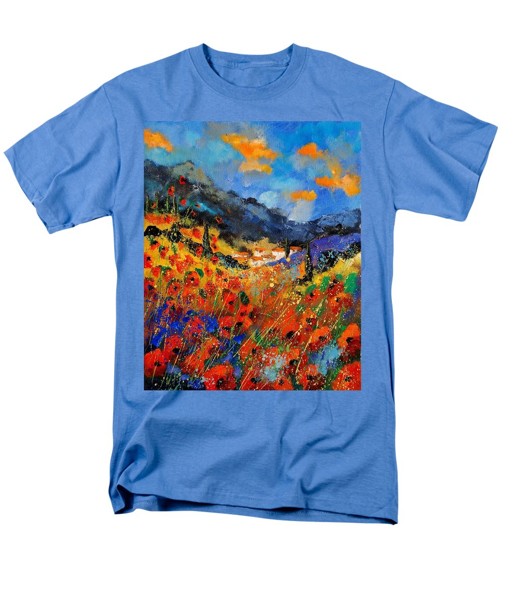 Men's T-Shirt (Regular Fit) featuring the painting Provence 459020 by Pol Ledent