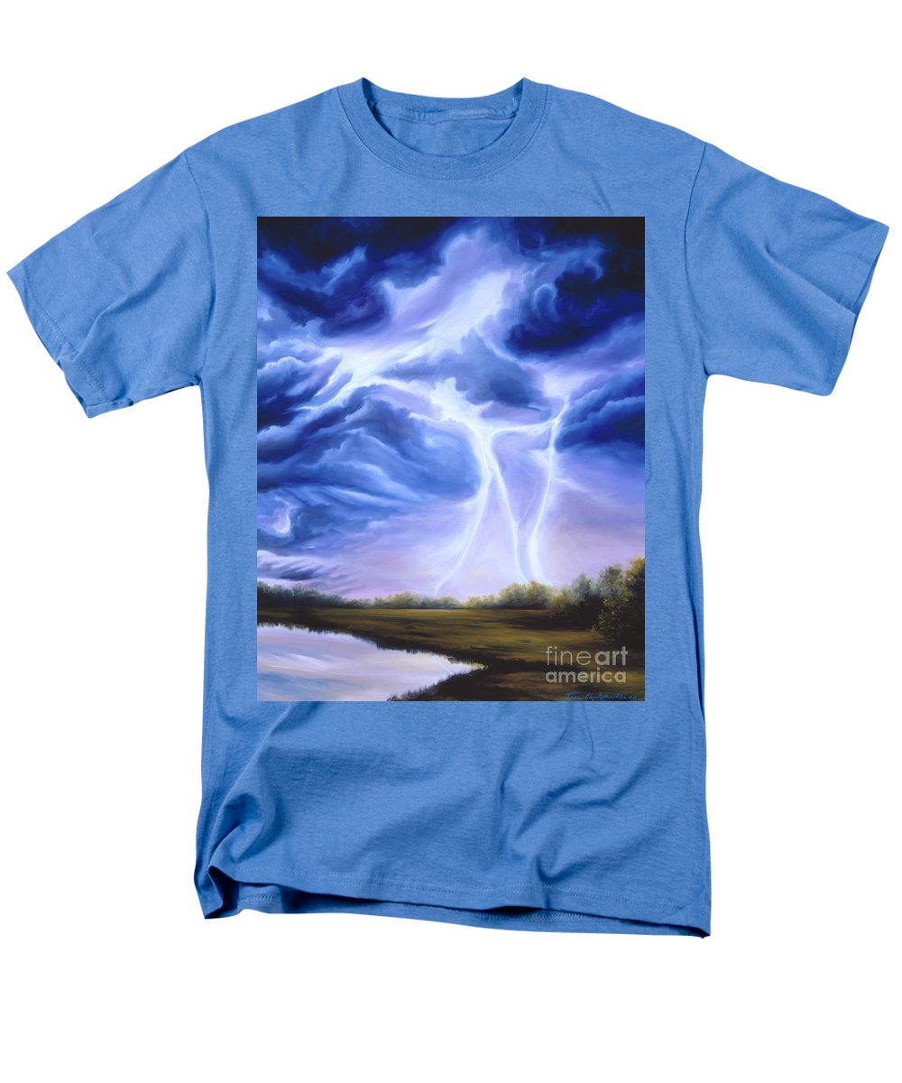 Marsh Men's T-Shirt (Regular Fit) featuring the painting Tesla by James Christopher Hill