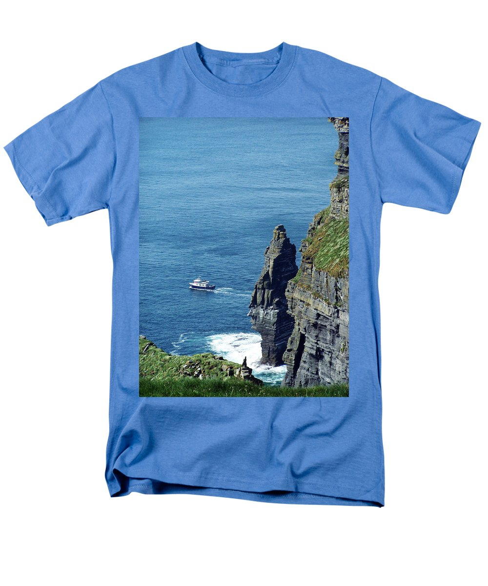 Irish Men's T-Shirt (Regular Fit) featuring the photograph The Stack and The Jack B Cliffs of Moher Ireland by Teresa Mucha