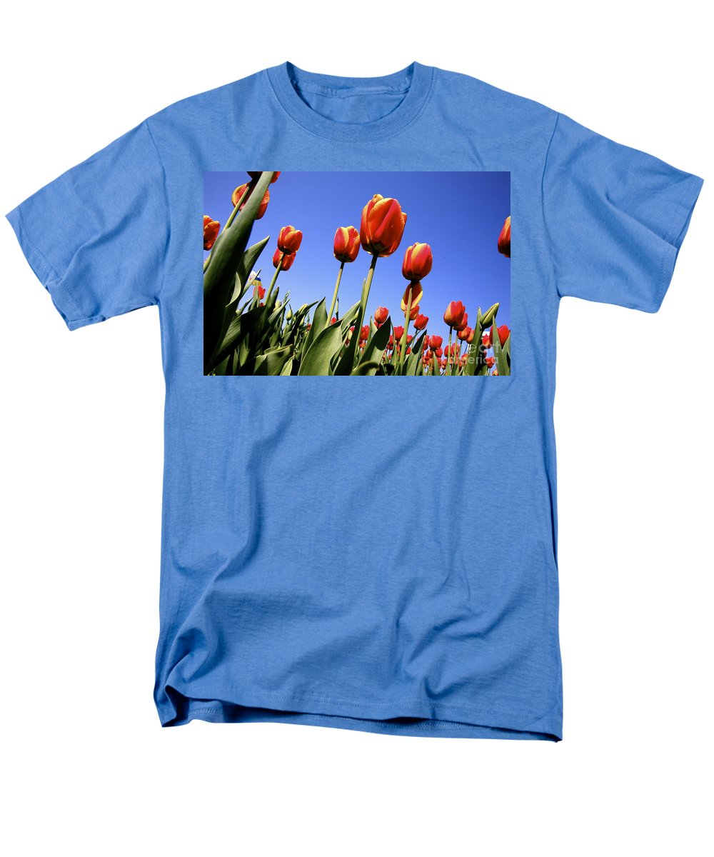 Tulips Men's T-Shirt (Regular Fit) featuring the photograph Tulips time 3 by Robert Pearson