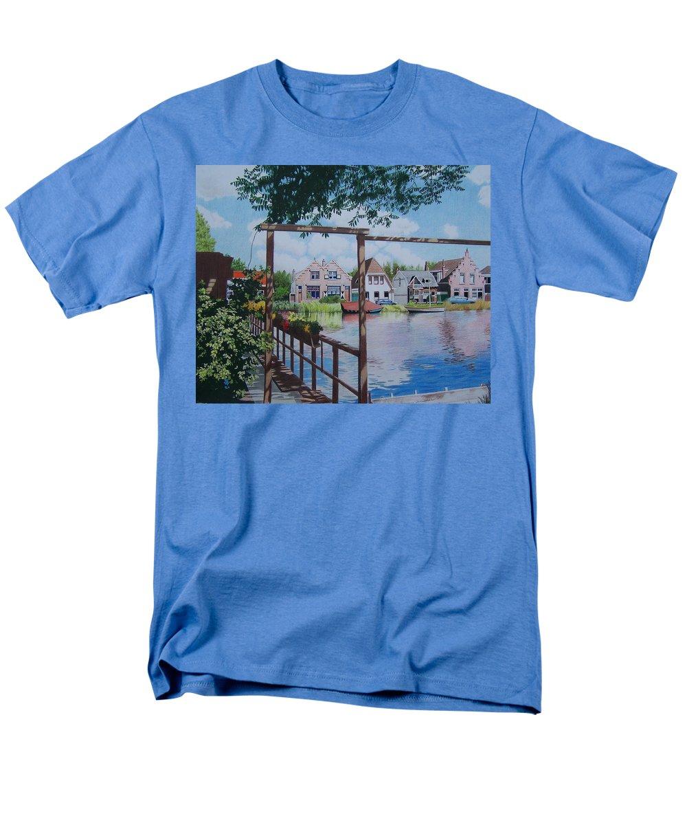 Landscape Men's T-Shirt (Regular Fit) featuring the mixed media View on Hillegersberg by Constance Drescher