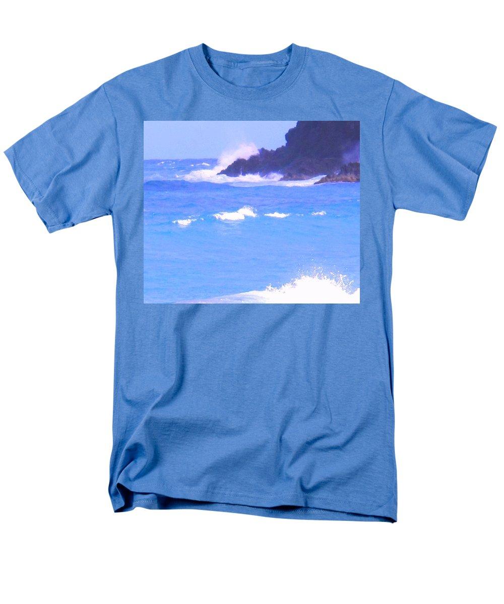Ocean Men's T-Shirt (Regular Fit) featuring the photograph Waves Crashing by Ian MacDonald