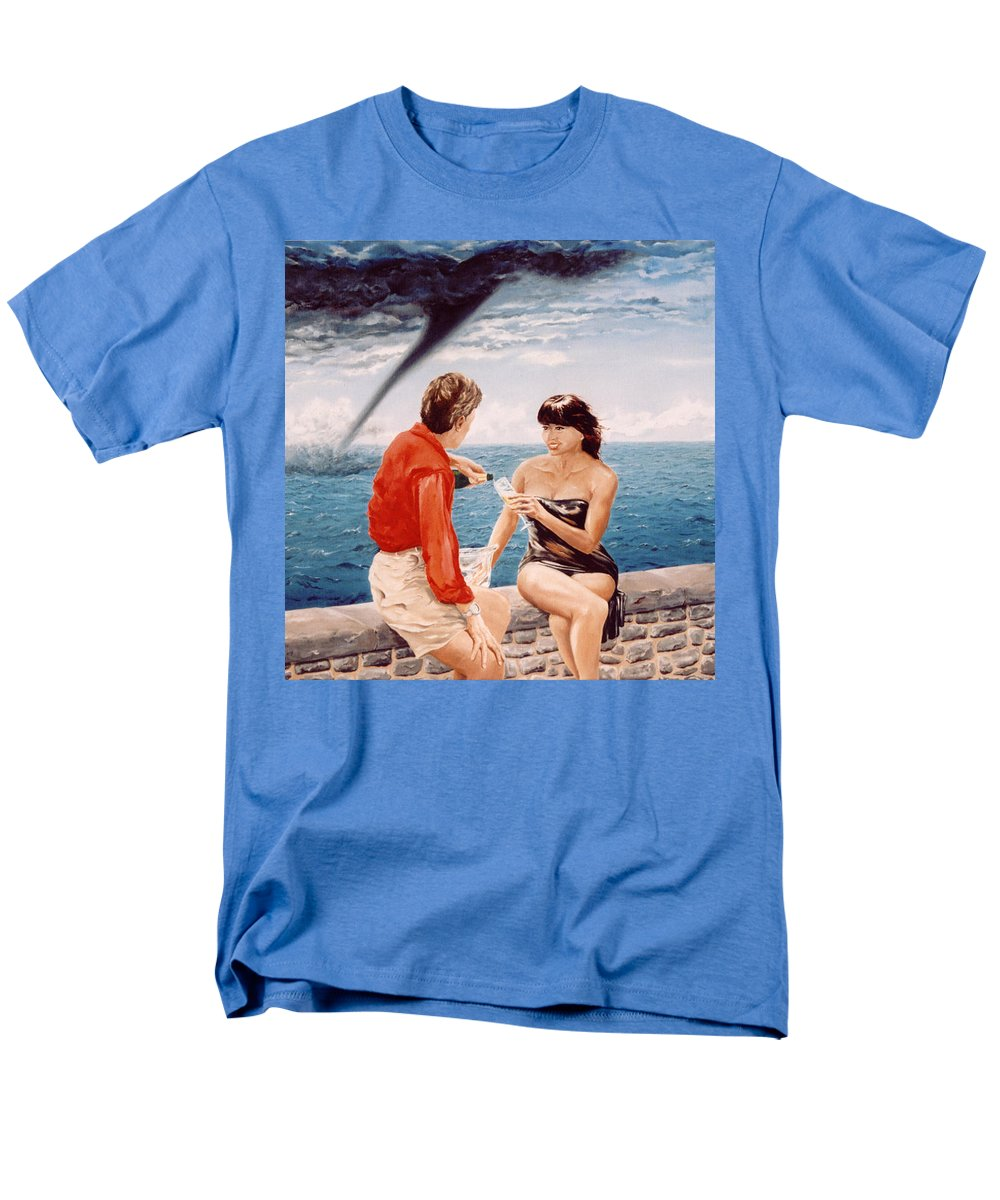 Whirlwind Men's T-Shirt (Regular Fit) featuring the painting Whirlwind Romance by Mark Cawood