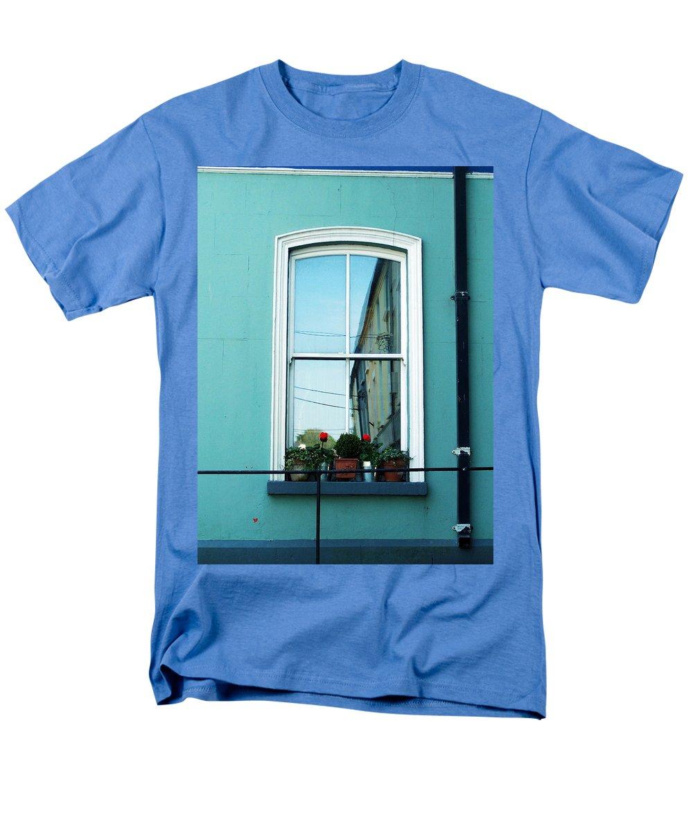 Irish Men's T-Shirt (Regular Fit) featuring the photograph Window in Ennistymon Ireland by Teresa Mucha