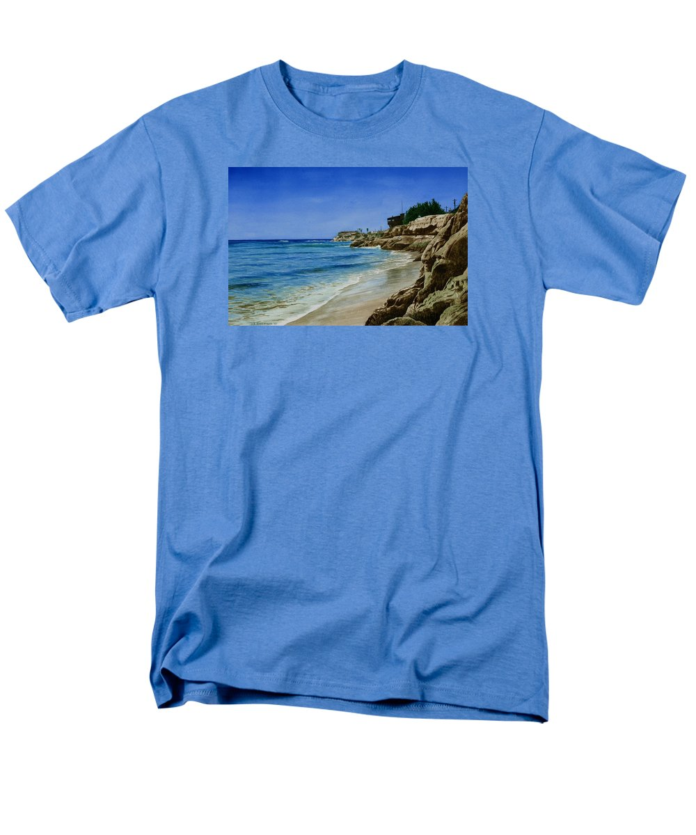 Ocean Men's T-Shirt (Regular Fit) featuring the painting Oneill Ranch by James Robertson