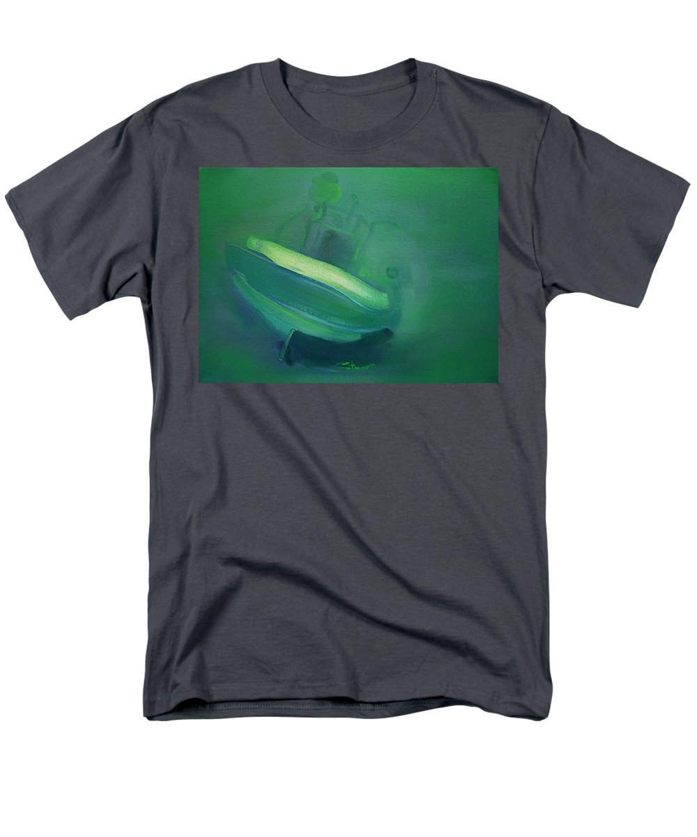 Fishing Boat Men's T-Shirt (Regular Fit) featuring the painting Alvor Working Boat by Charles Stuart