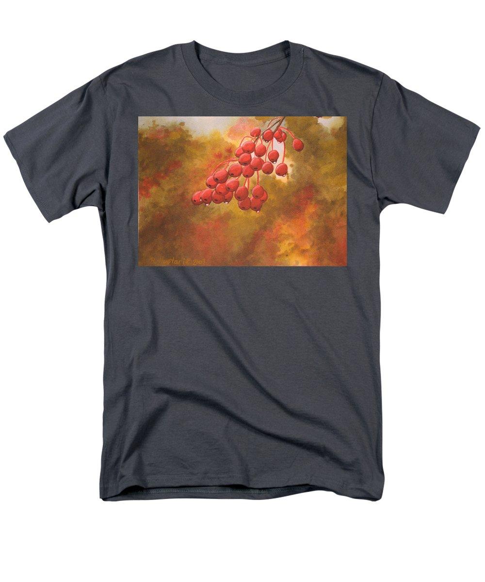 Rick Huotari Men's T-Shirt (Regular Fit) featuring the painting Door County Cherries by Rick Huotari