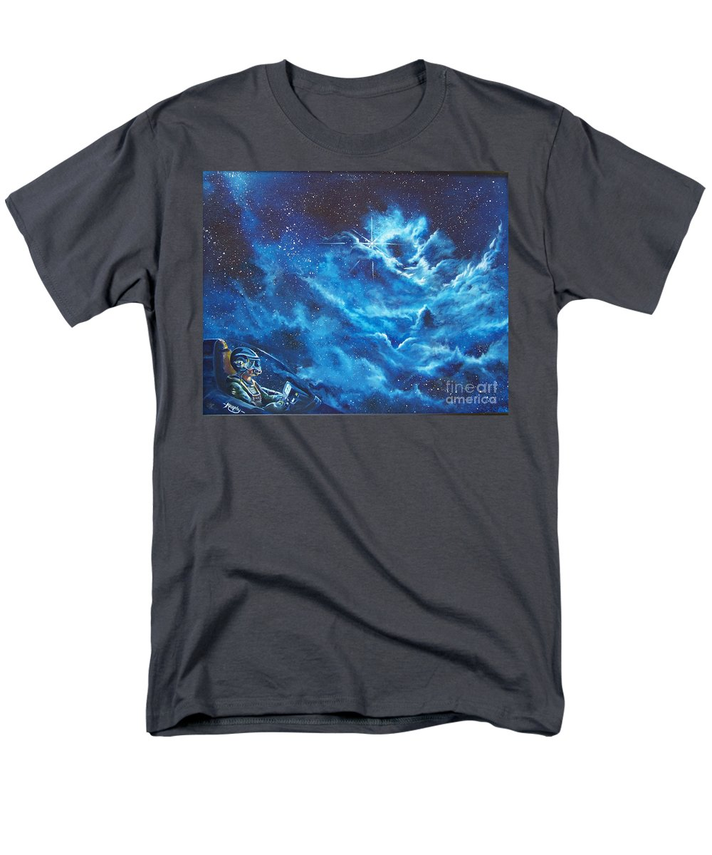 Astro Men's T-Shirt (Regular Fit) featuring the painting Heavens Gate by Murphy Elliott