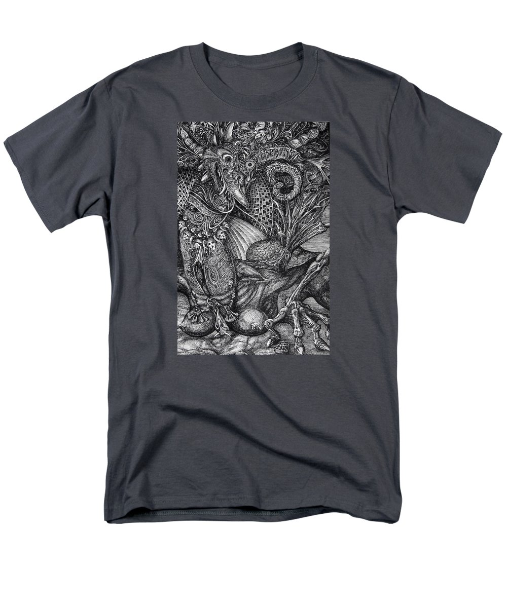 Surrealism Men's T-Shirt (Regular Fit) featuring the drawing Jabberwockie by Otto Rapp