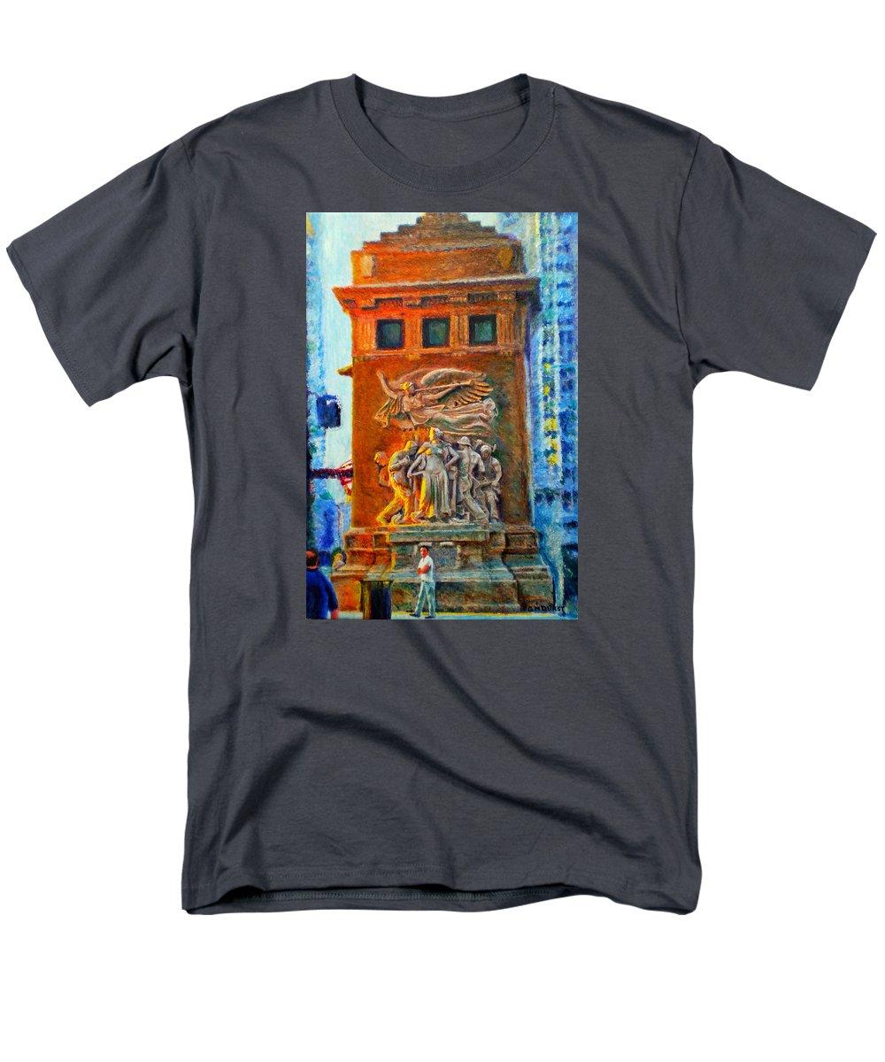 Chicago Men's T-Shirt (Regular Fit) featuring the painting Michigan Avenue Bridge by Michael Durst