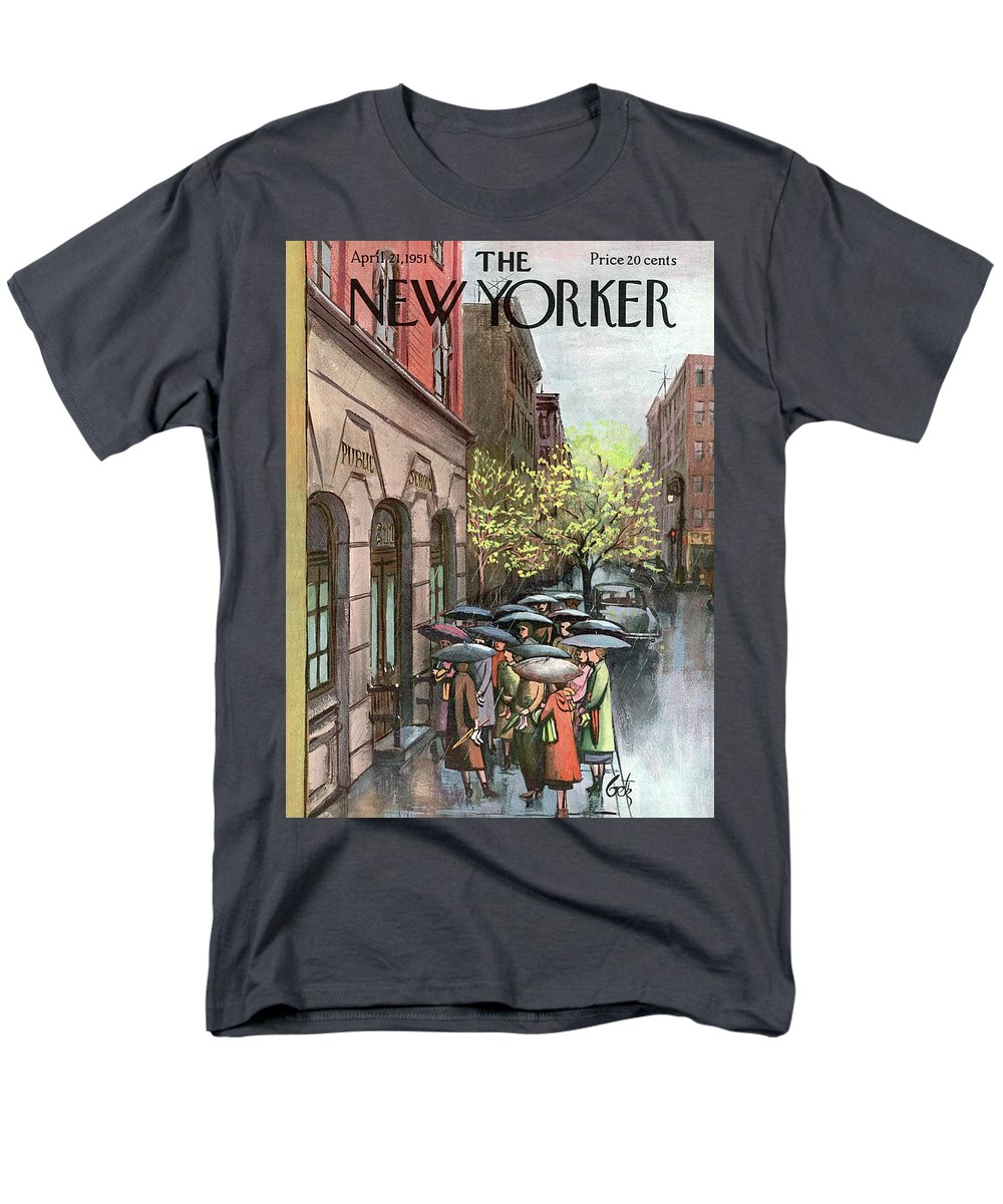 Urban Men's T-Shirt (Regular Fit) featuring the painting New Yorker April 21st, 1951 by Arthur Getz
