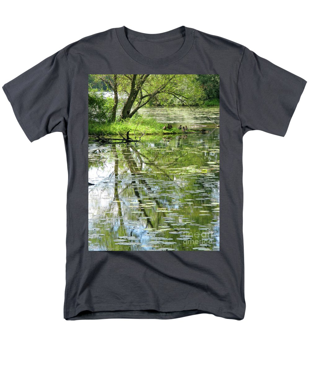 Reflection Men's T-Shirt (Regular Fit) featuring the photograph Tranquility by Ann Horn