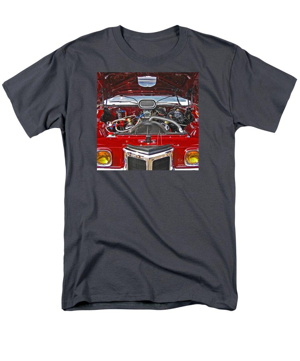 Car Men's T-Shirt (Regular Fit) featuring the photograph Under the Hood by Ann Horn