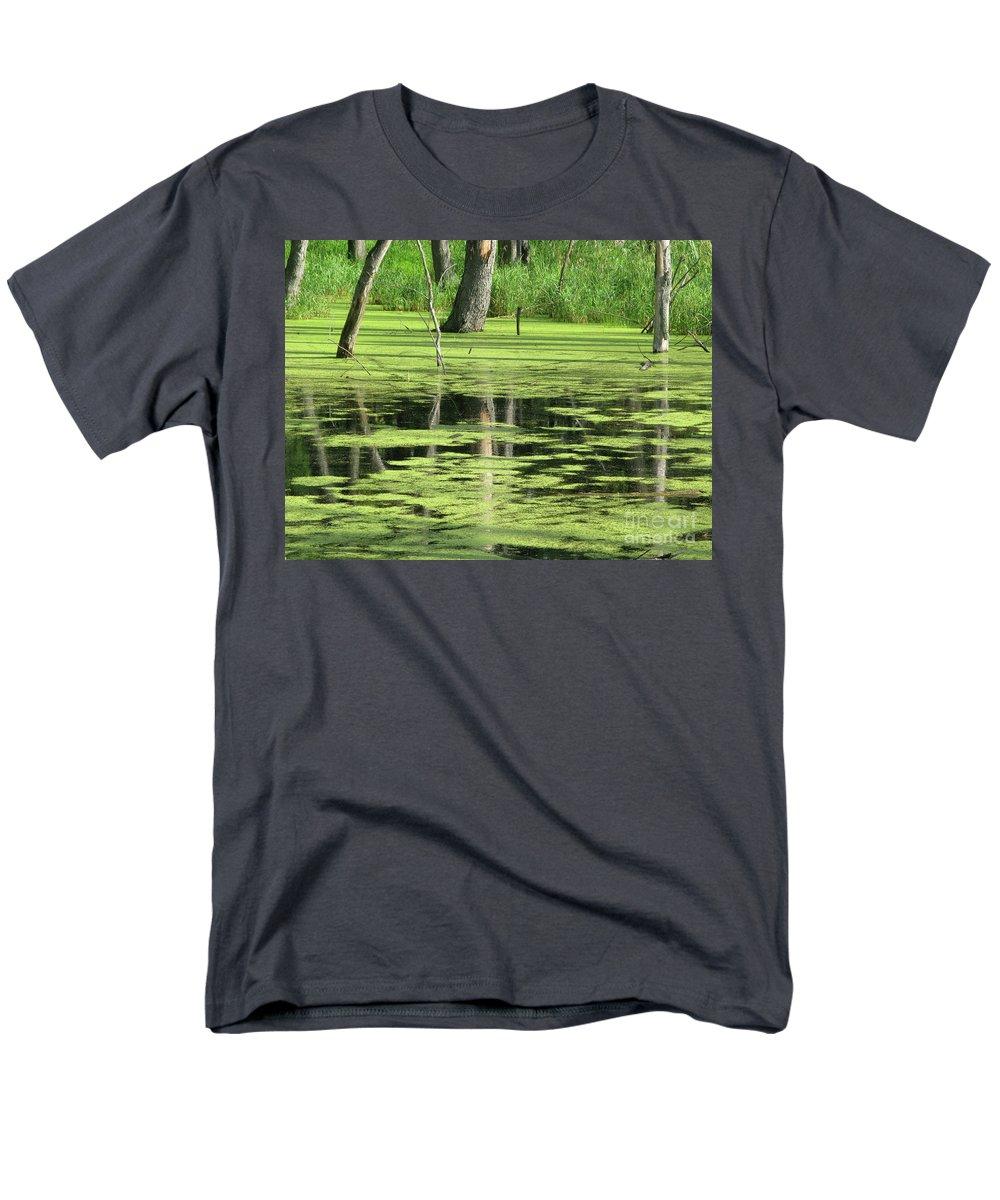 Landscape Men's T-Shirt (Regular Fit) featuring the photograph Wetland Reflection by Ann Horn