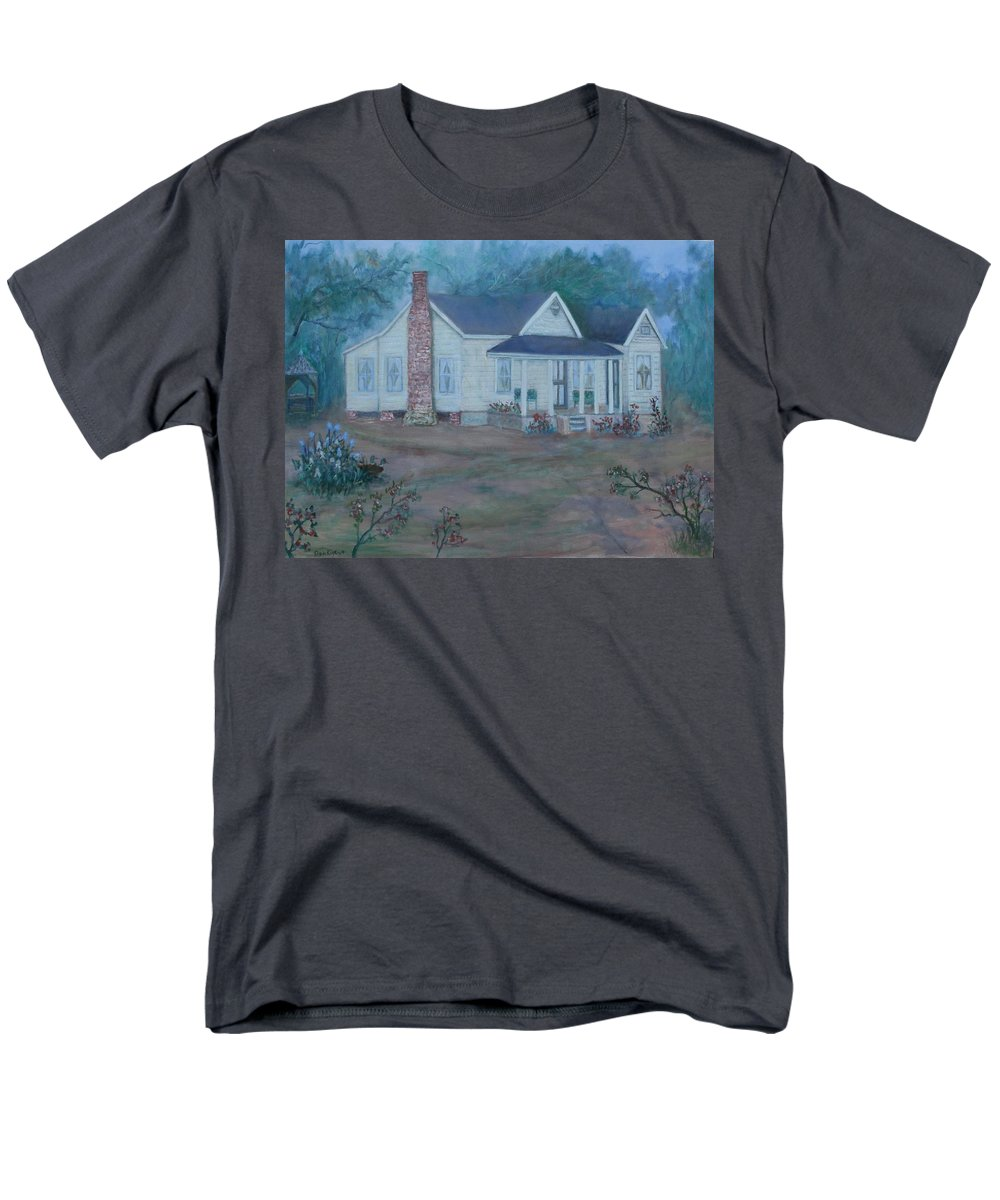 Landscape Men's T-Shirt (Regular Fit) featuring the painting Wilson Homestead by Ben Kiger