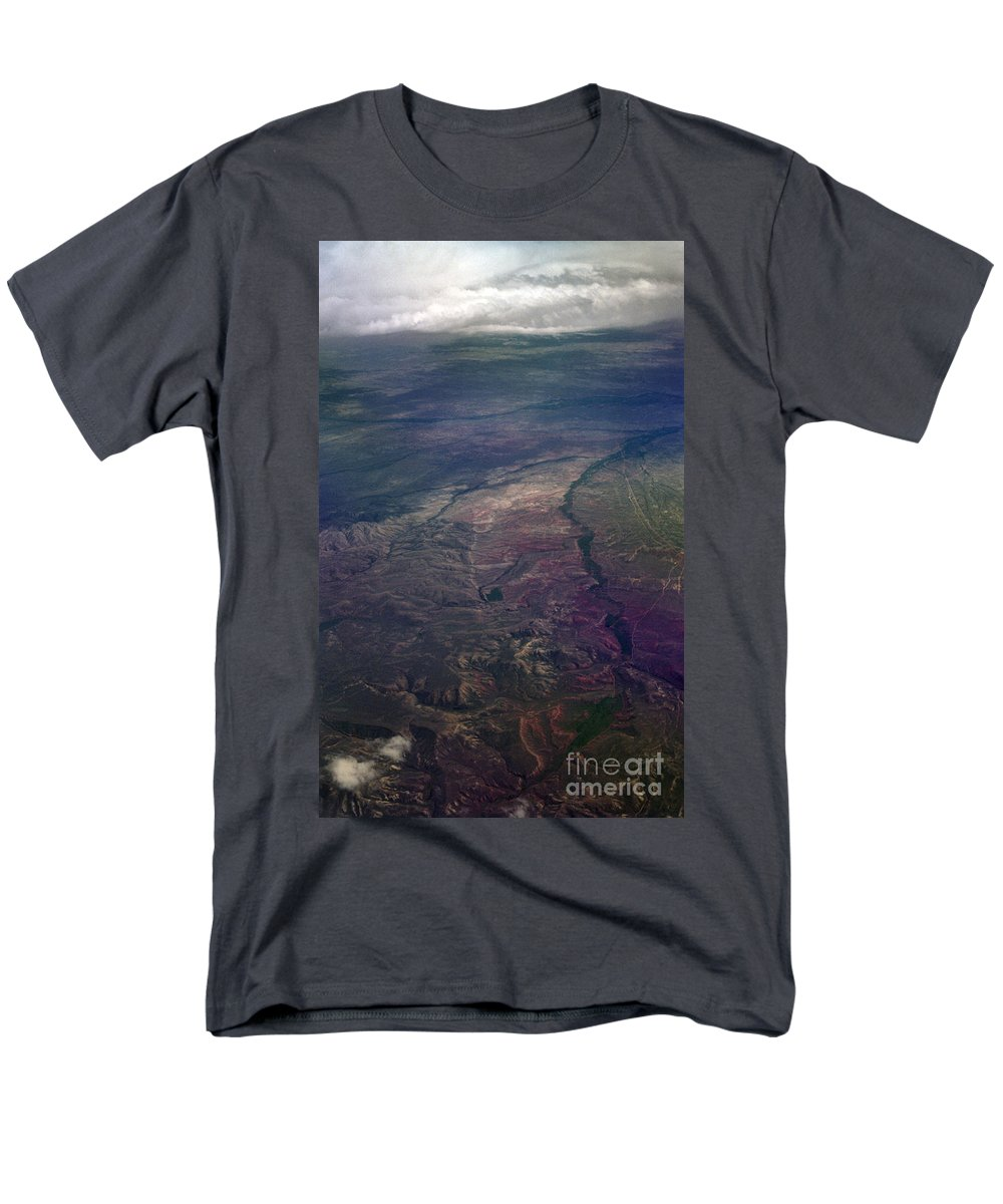 Aerial Photography Men's T-Shirt (Regular Fit) featuring the photograph A Midwestern Landscape by Richard Rizzo