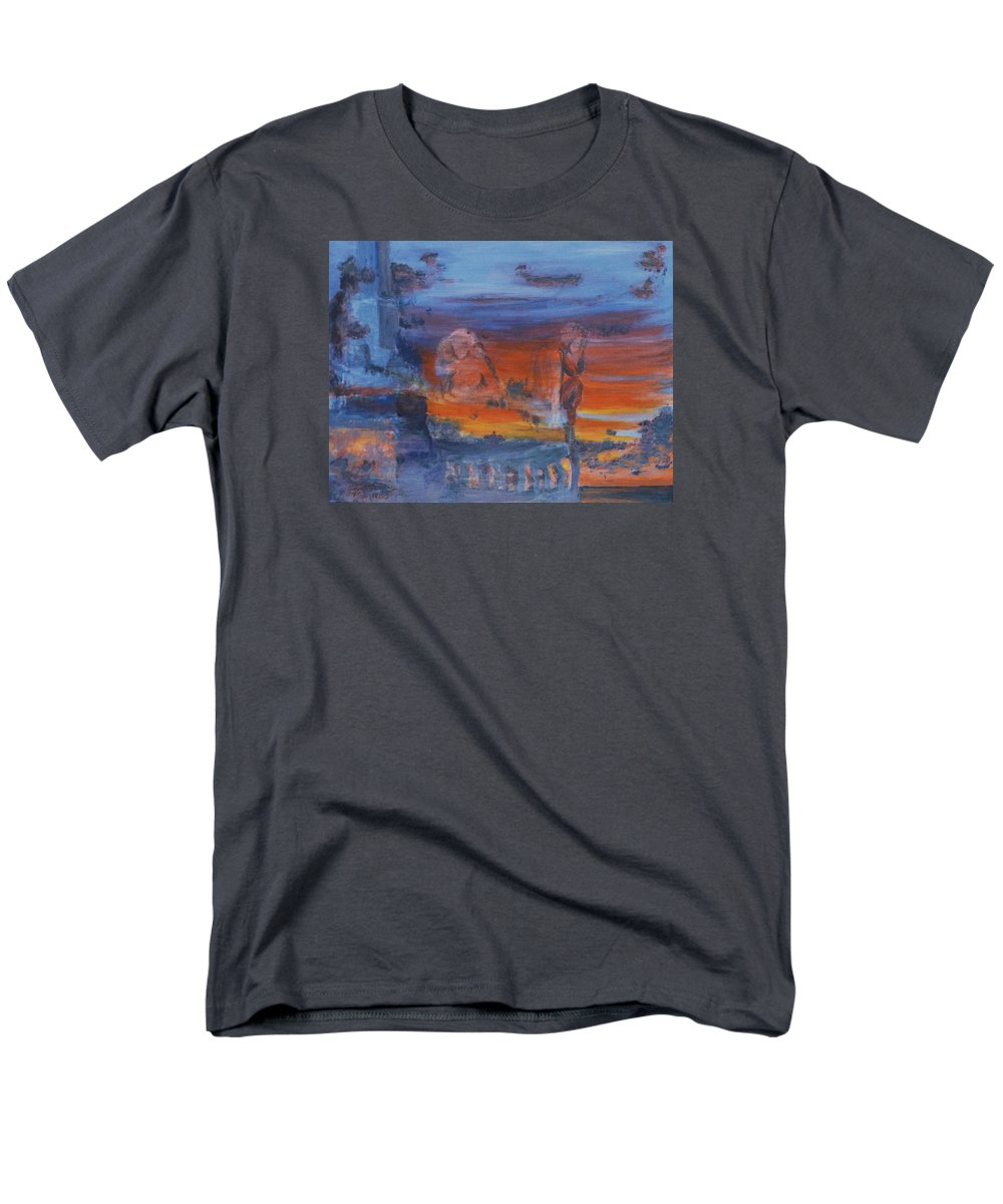 Abstract Men's T-Shirt (Regular Fit) featuring the painting A Mystery Of Gods by Steve Karol