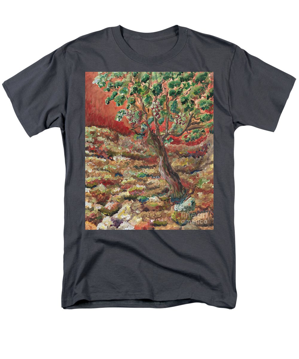 Abide Men's T-Shirt (Regular Fit) featuring the painting Abide by Nadine Rippelmeyer