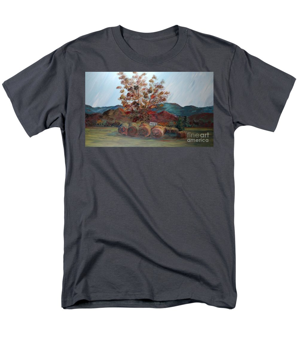 Autumn Men's T-Shirt (Regular Fit) featuring the painting Arkansas Autumn by Nadine Rippelmeyer