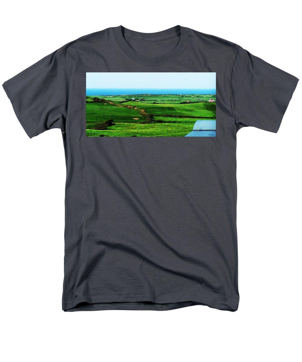 Ireland Men's T-Shirt (Regular Fit) featuring the photograph Atlantic View Doolin Ireland by Teresa Mucha