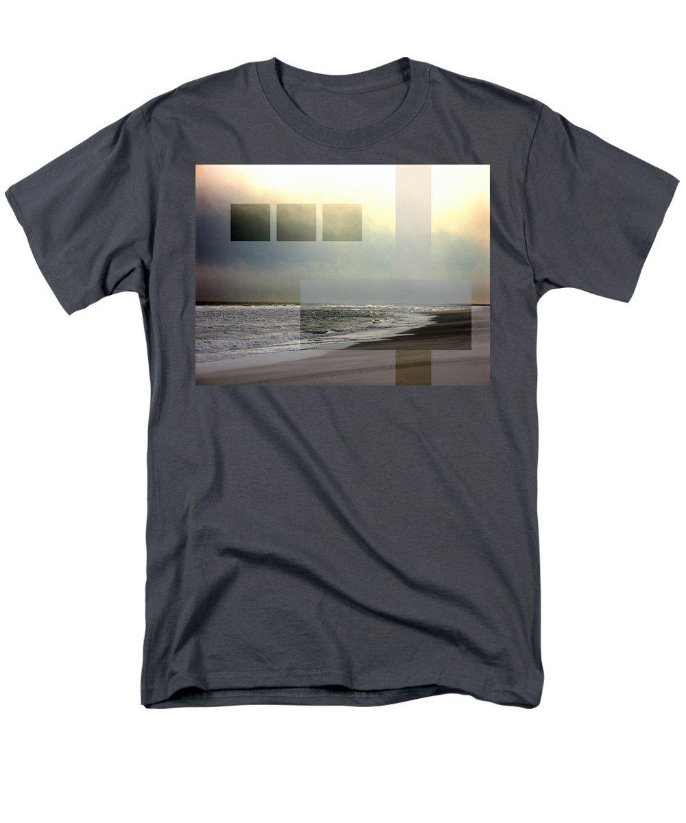 Beach Men's T-Shirt (Regular Fit) featuring the photograph Beach Collage 2 by Steve Karol