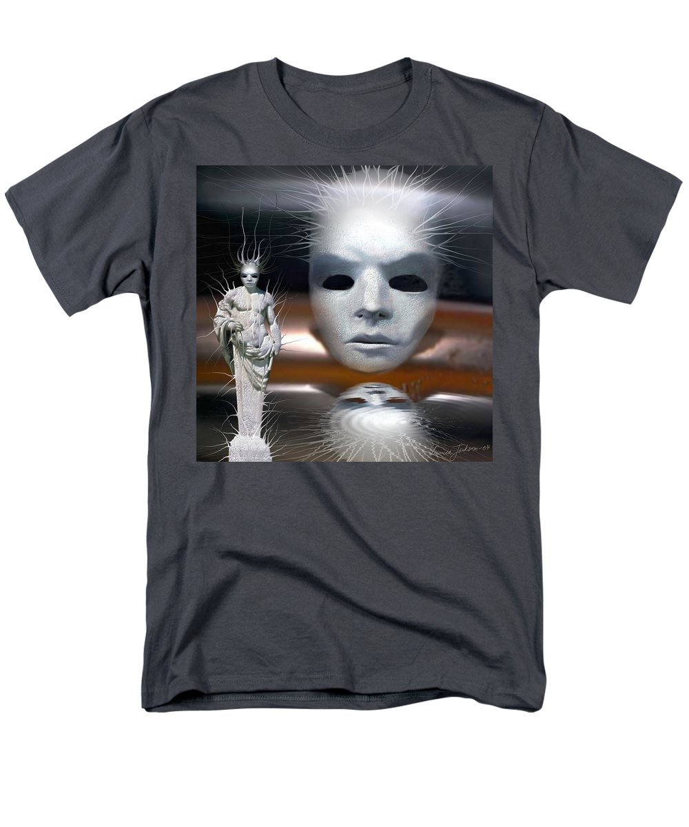 Digital Beauty Eyes Water Men's T-Shirt (Regular Fit) featuring the digital art Beauty is invisible to the eye. by Veronica Jackson