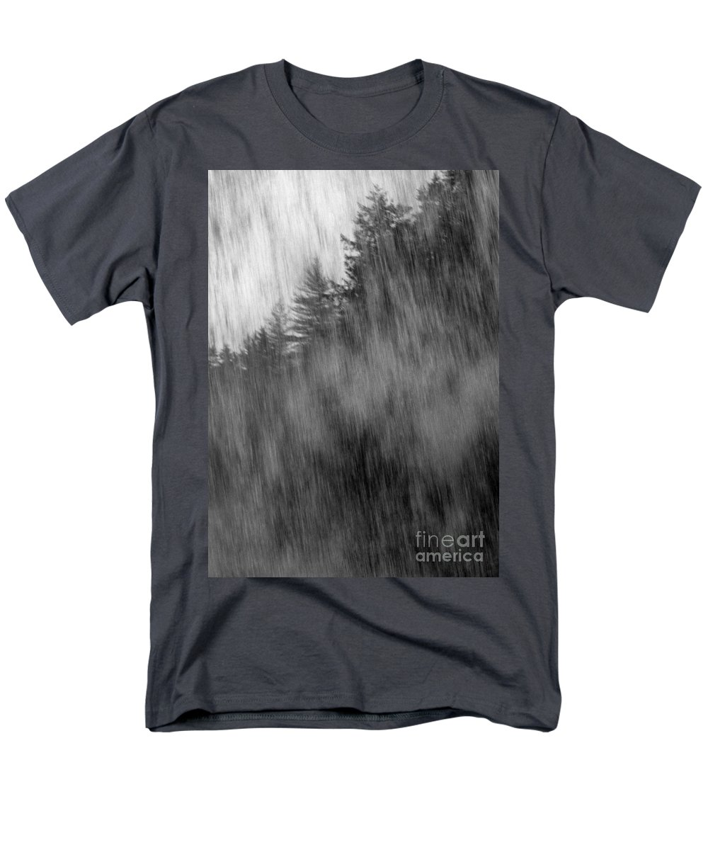 Waterfalls Men's T-Shirt (Regular Fit) featuring the photograph Behind the Falls by Richard Rizzo