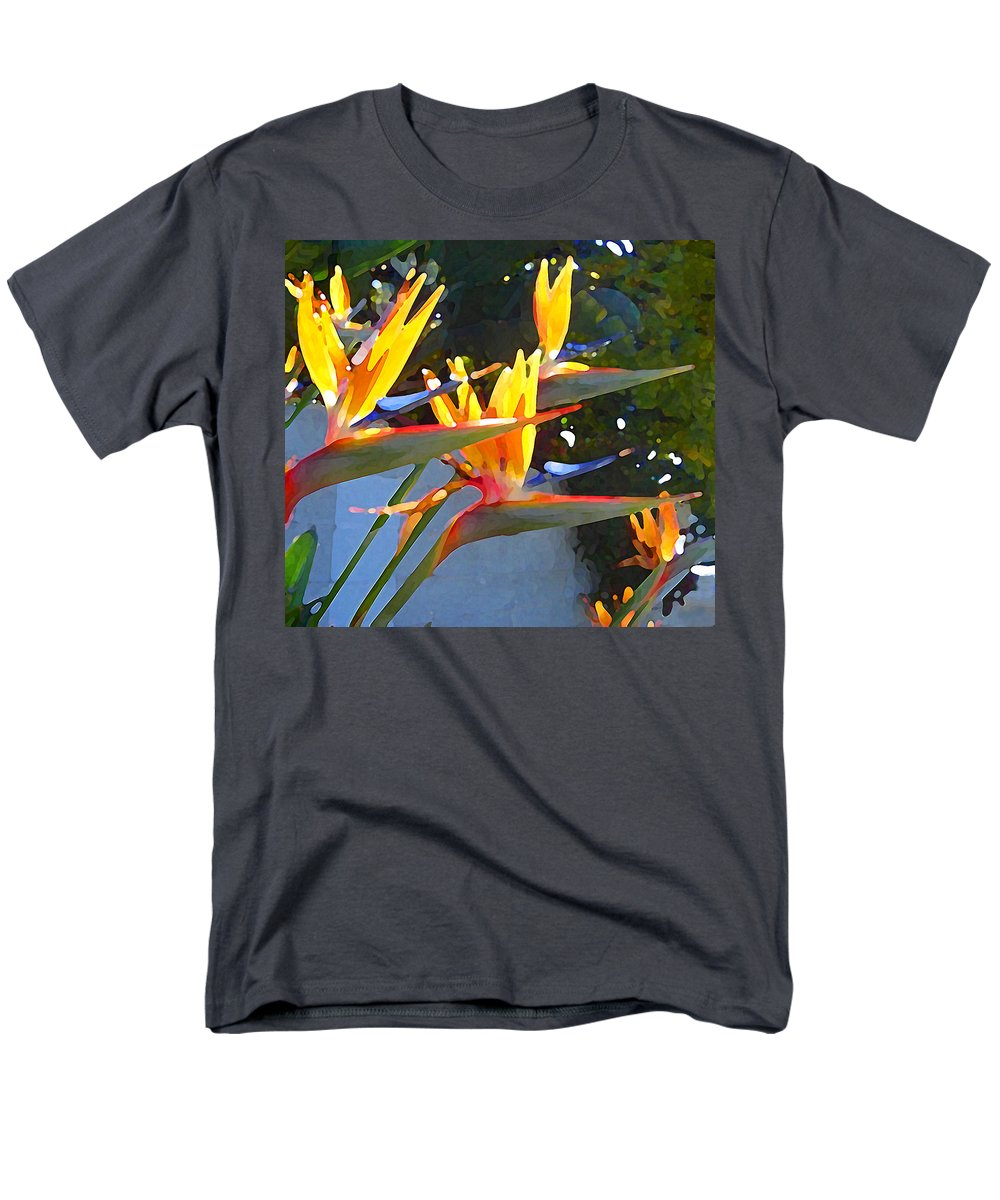 Abstract Men's T-Shirt (Regular Fit) featuring the painting Bird of Paradise Backlit by Sun by Amy Vangsgard