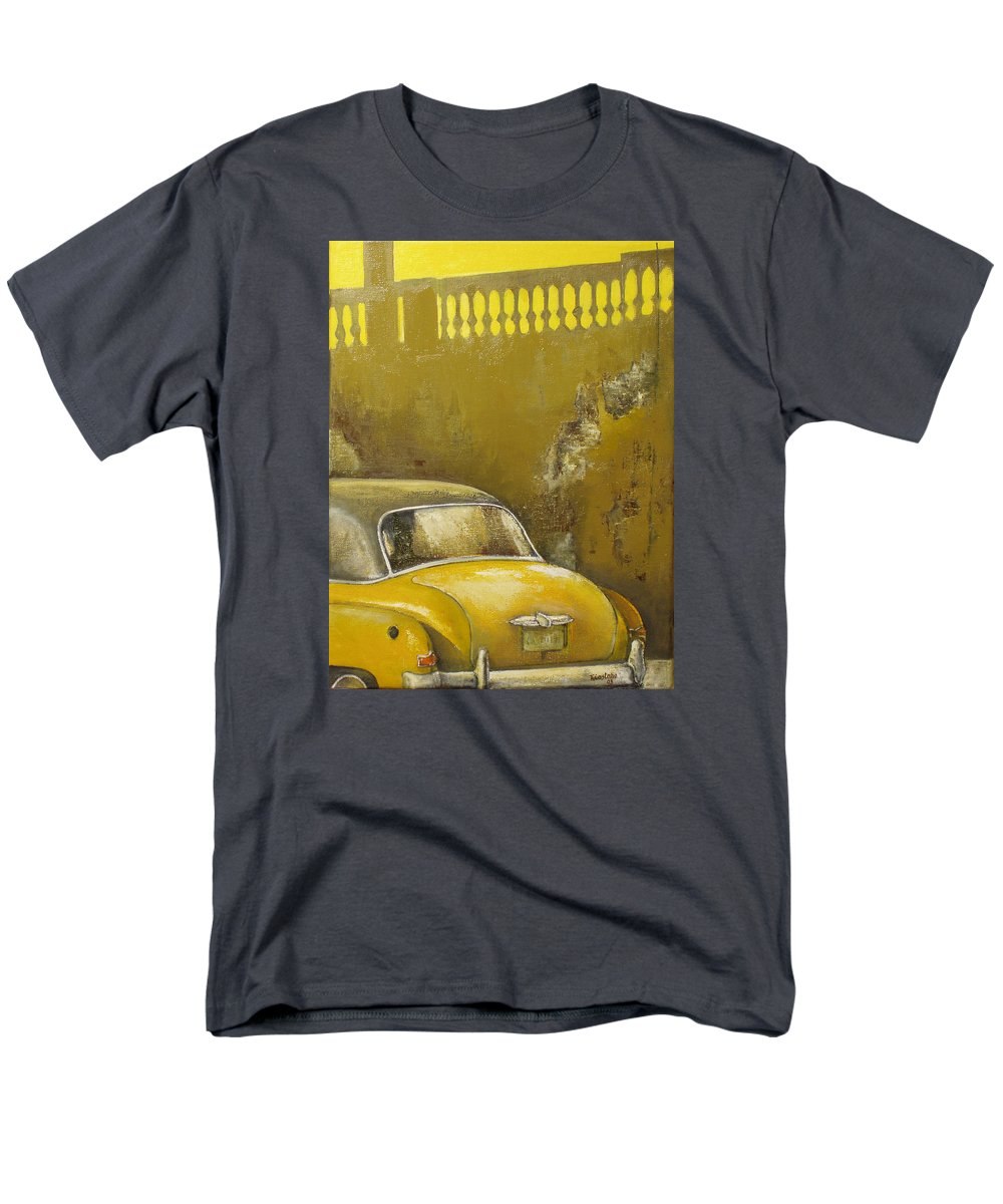 Havana Men's T-Shirt (Regular Fit) featuring the painting Buscando La Sombra by Tomas Castano
