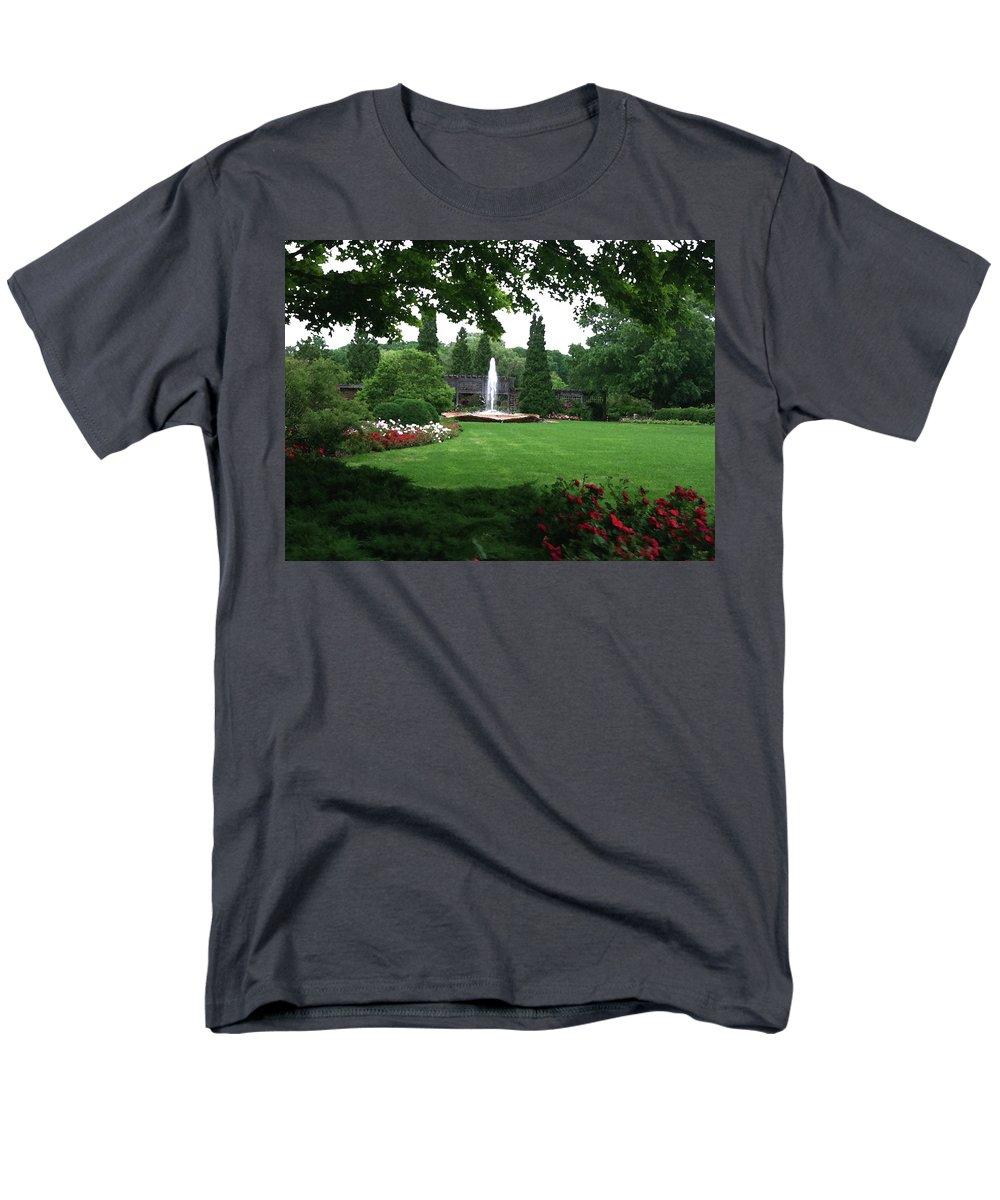 Landscape Men's T-Shirt (Regular Fit) featuring the photograph Chicago Botanical Gardens Landscape by Steve Karol