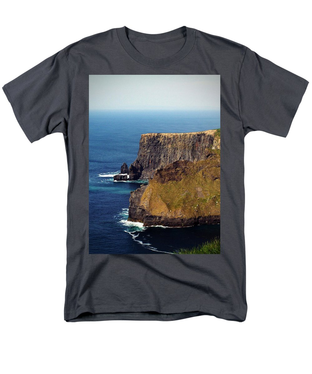 Irish Men's T-Shirt (Regular Fit) featuring the photograph Cliffs of Moher Ireland View of Aill Na Searrach by Teresa Mucha