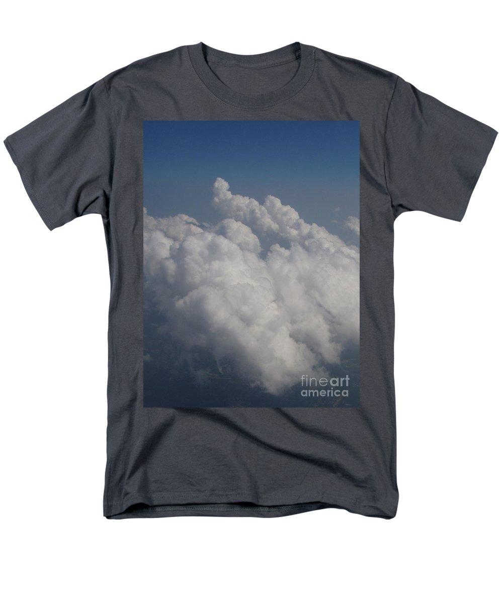 Clouds Men's T-Shirt (Regular Fit) featuring the photograph Cloud Depth II by Deborah Crew-Johnson
