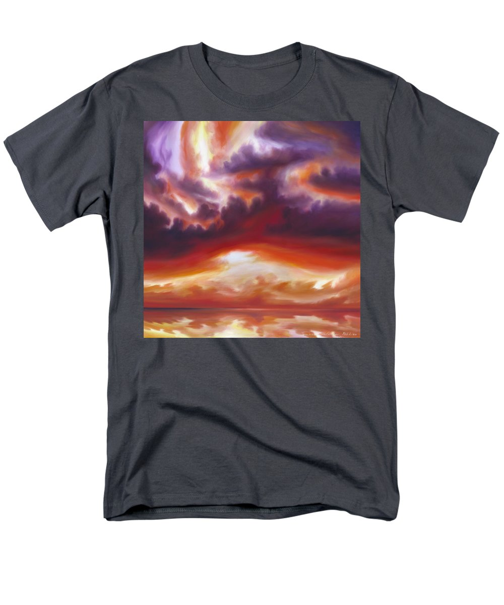 Skyscape Men's T-Shirt (Regular Fit) featuring the painting Coastline by James Christopher Hill