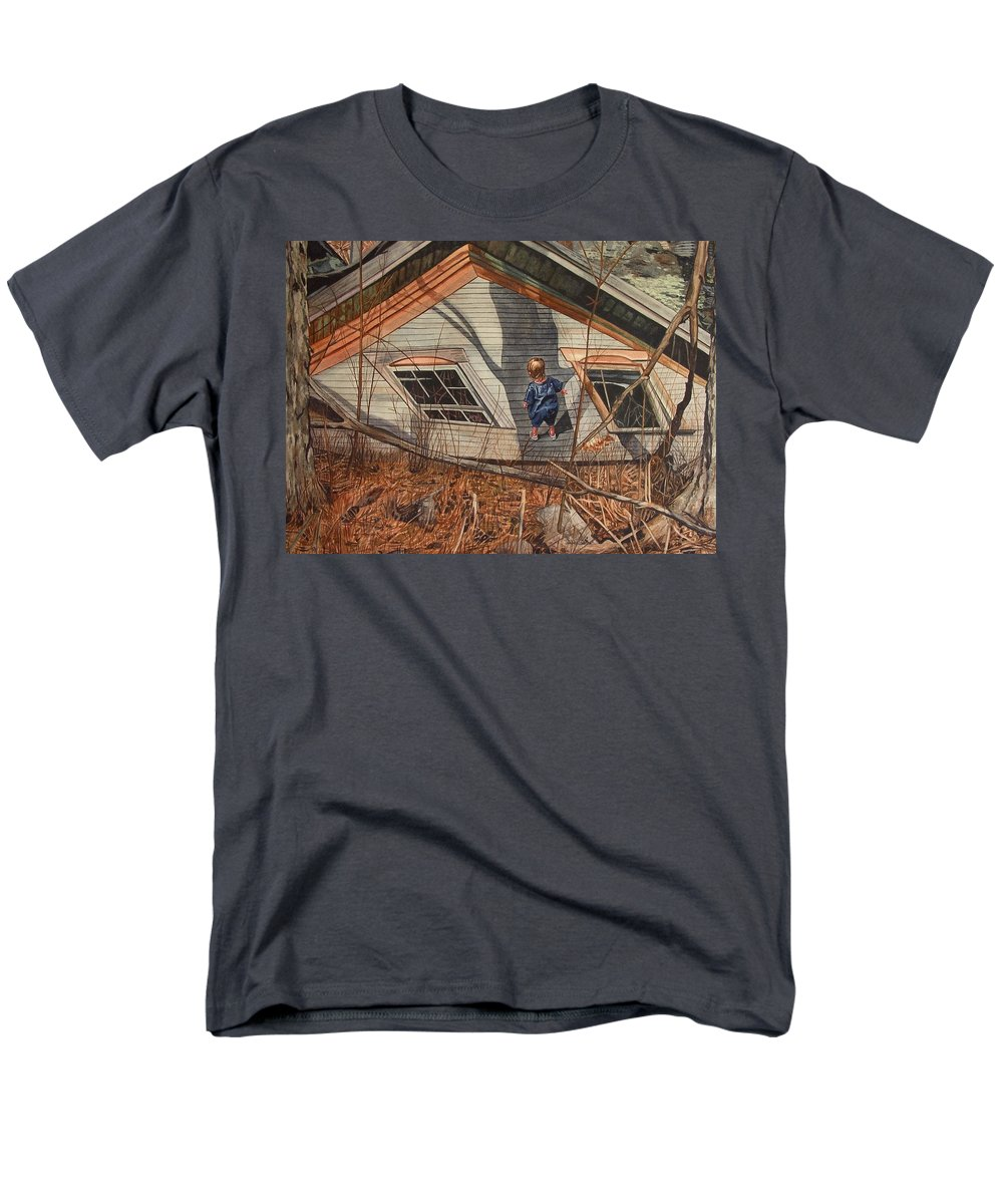 Children Men's T-Shirt (Regular Fit) featuring the painting Collapsed by Valerie Patterson
