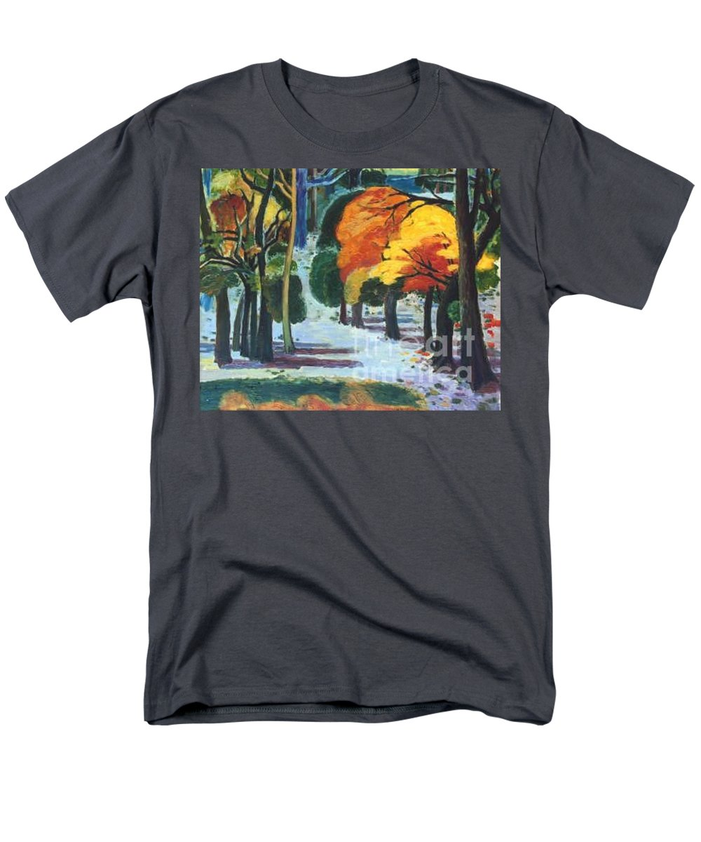 Colors Men's T-Shirt (Regular Fit) featuring the painting Colors Of Fall by Meihua Lu