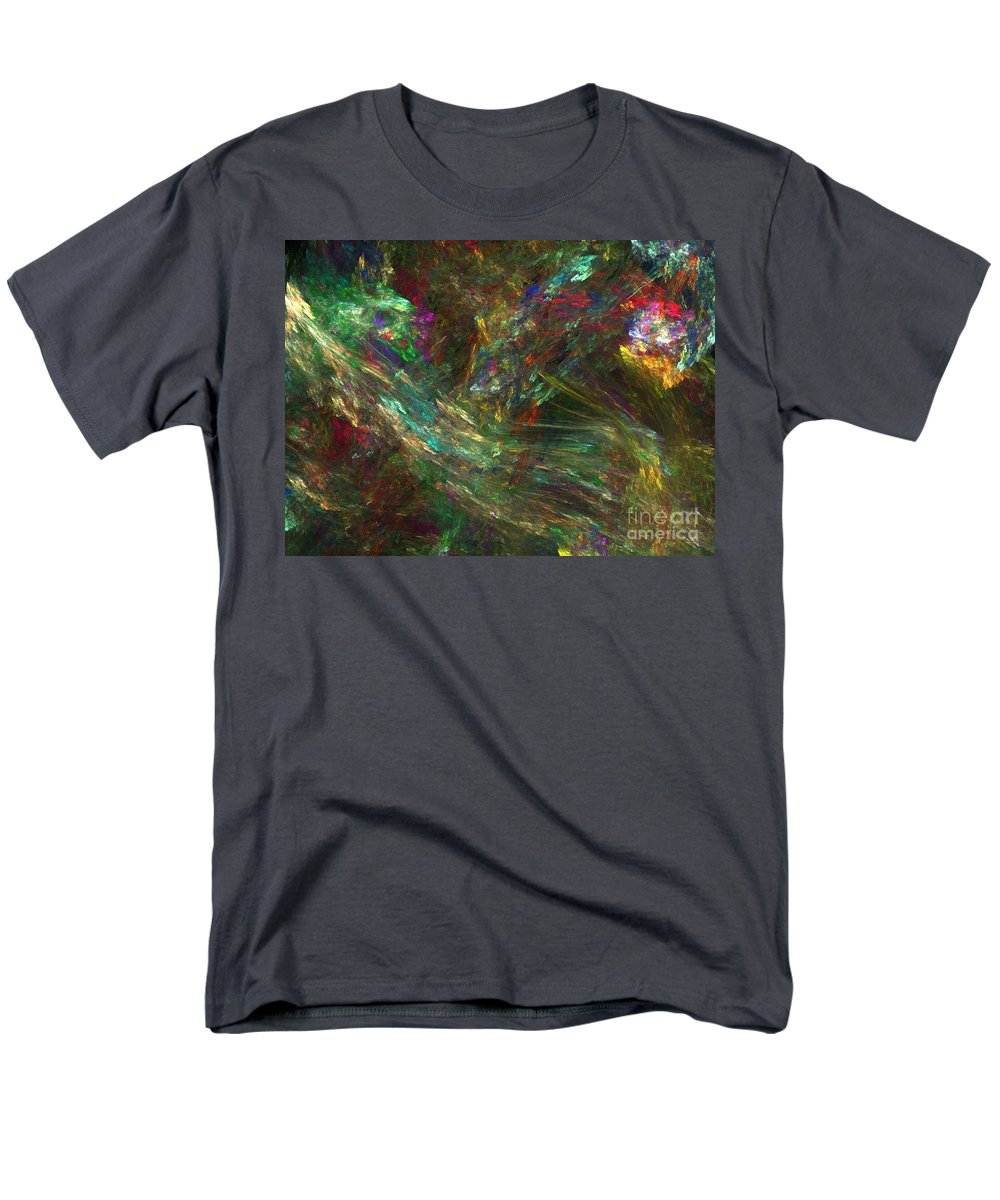 Fractals Men's T-Shirt (Regular Fit) featuring the digital art Colors of Light by Richard Rizzo