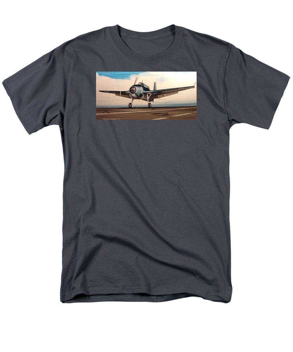 Painting Men's T-Shirt (Regular Fit) featuring the painting Coming Aboard by Marc Stewart