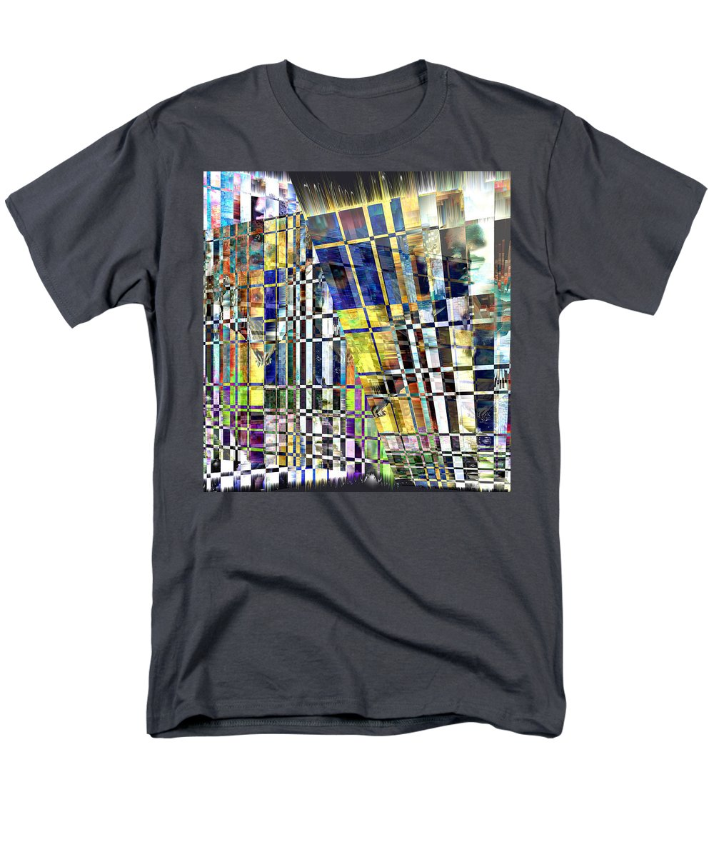 Abstract Men's T-Shirt (Regular Fit) featuring the digital art Desperate Reflections by Seth Weaver
