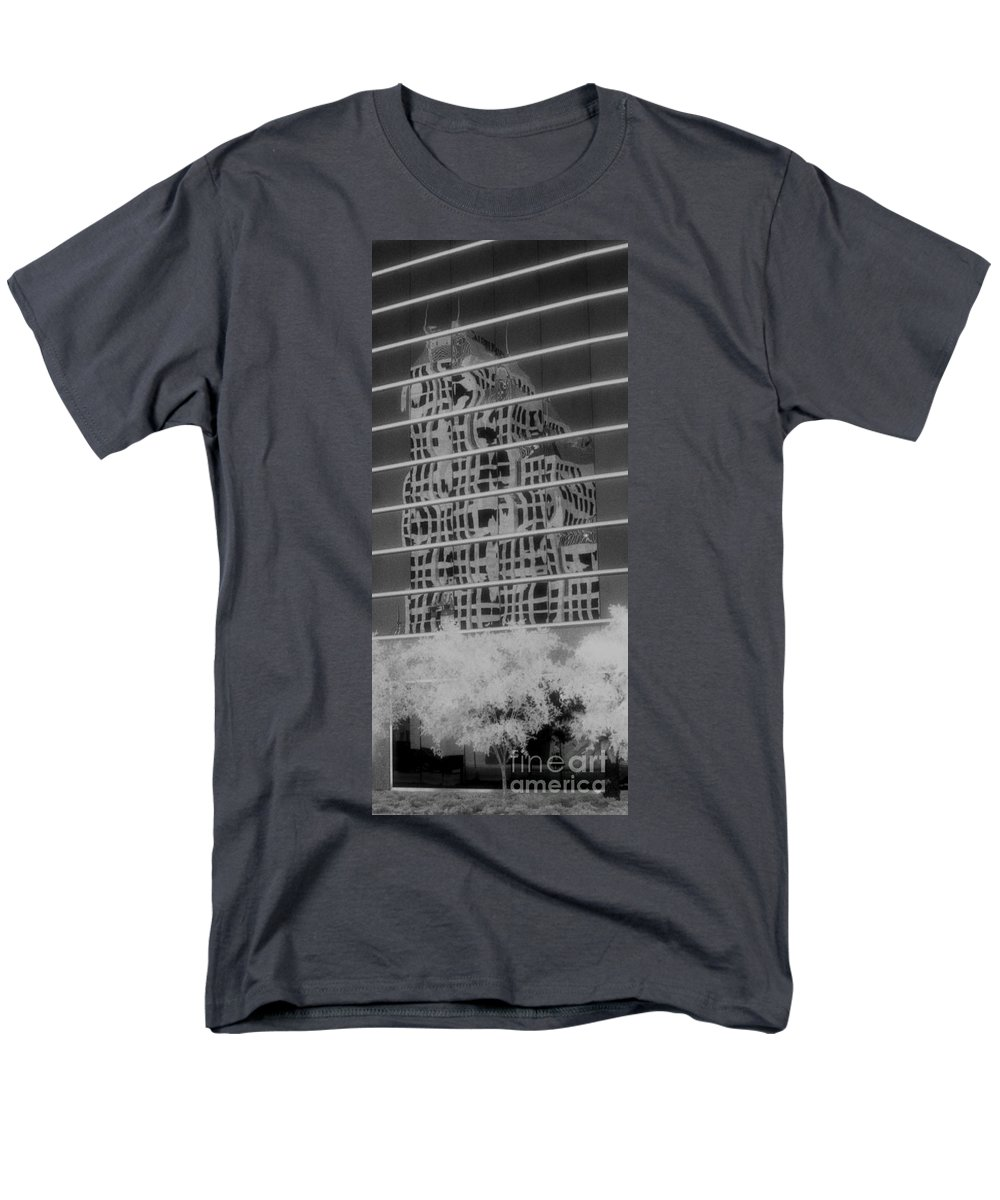 Distorted Men's T-Shirt (Regular Fit) featuring the photograph Distorted Views by Richard Rizzo