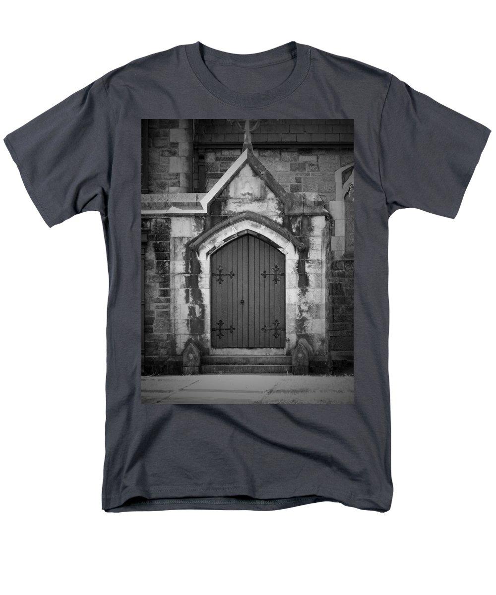 Irish Men's T-Shirt (Regular Fit) featuring the photograph Door at St. Johns in Tralee Ireland by Teresa Mucha
