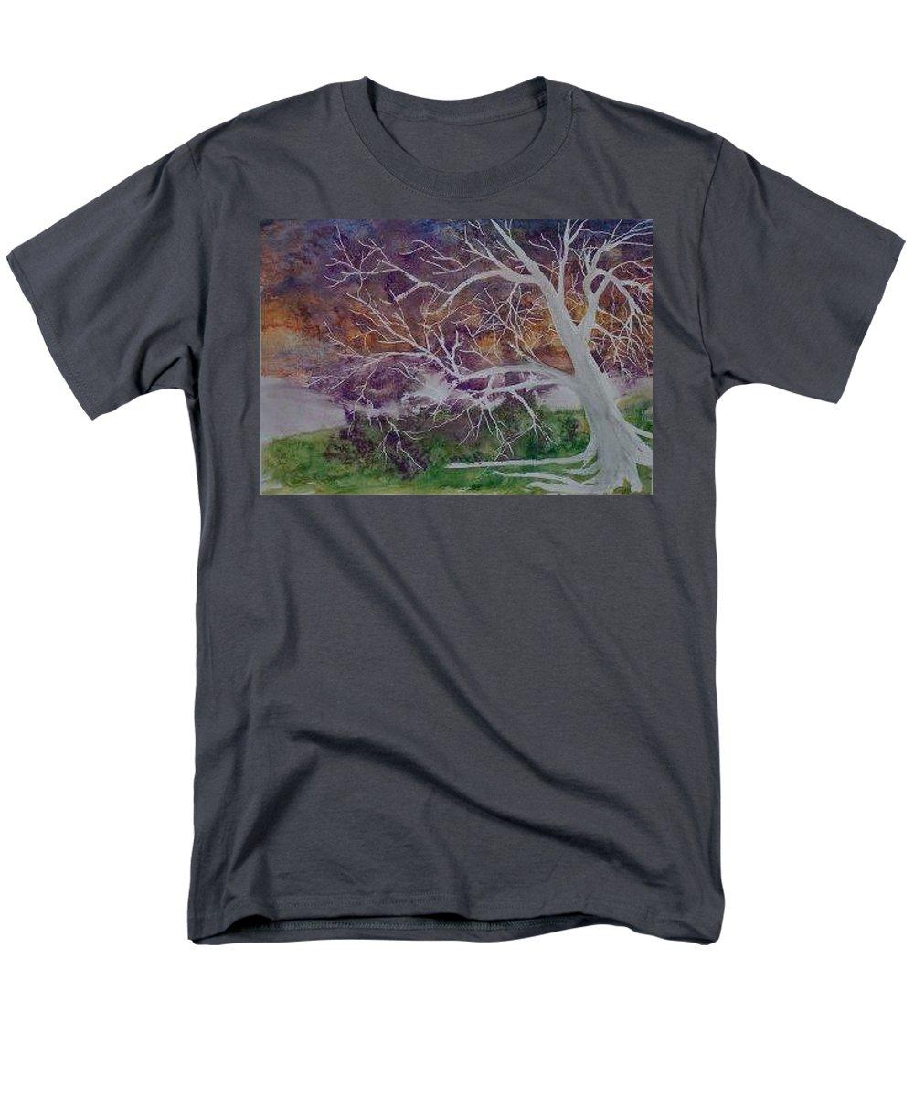 Watercolor Men's T-Shirt (Regular Fit) featuring the painting EERIE gothic landscape fine art surreal print by Derek Mccrea
