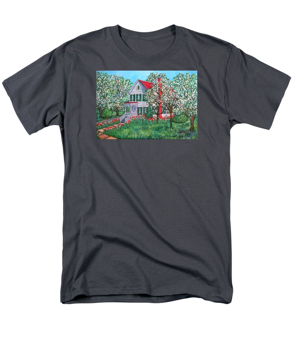 Home Men's T-Shirt (Regular Fit) featuring the painting Esther's Home by Kendall Kessler