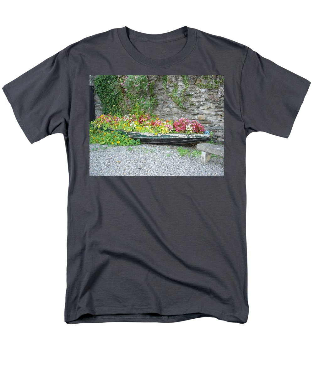 Inistioge Men's T-Shirt (Regular Fit) featuring the photograph Flowers Floating by Kelly Mezzapelle