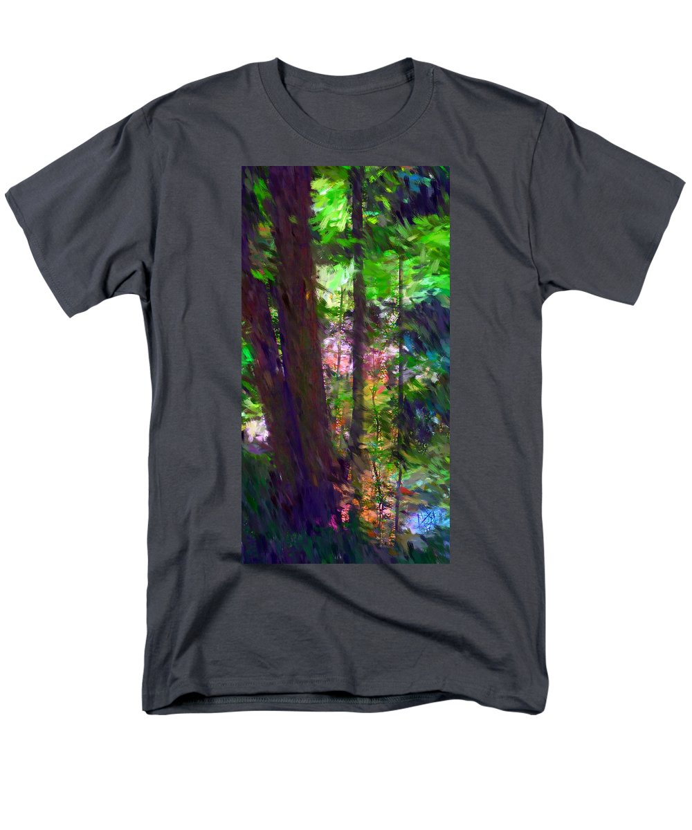 Digital Photography Men's T-Shirt (Regular Fit) featuring the digital art Forest for the trees by David Lane