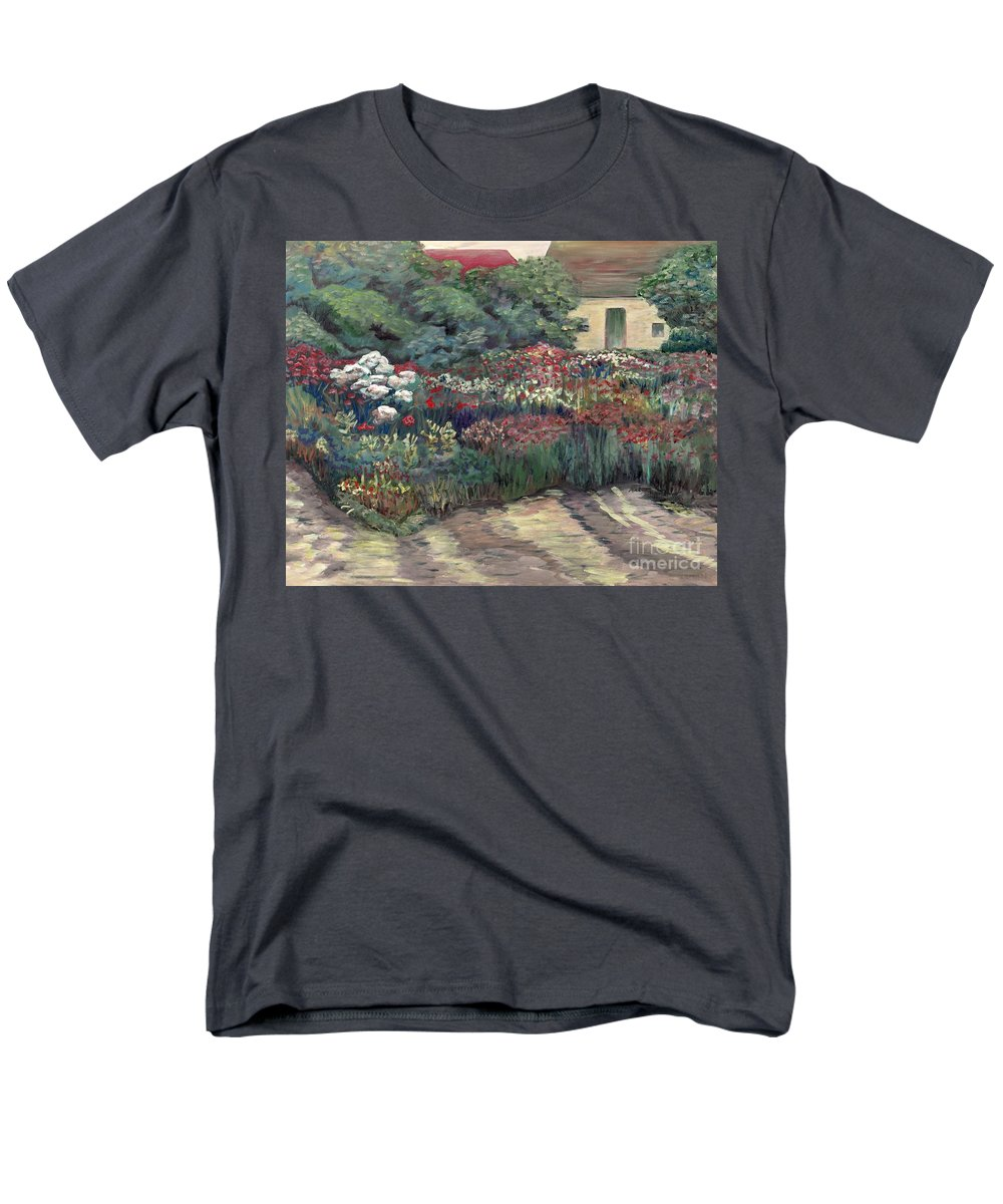 Breck Men's T-Shirt (Regular Fit) featuring the painting Garden at Giverny by Nadine Rippelmeyer